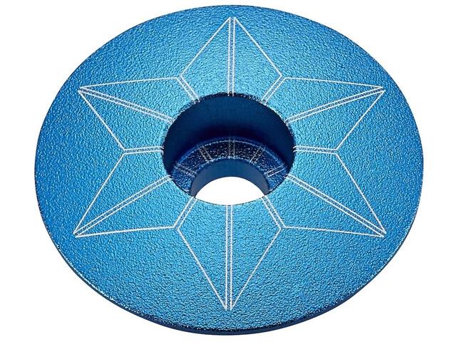 Supacaz Star Capz Ahead-Kappe eloxiert aqua